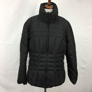 Calvin Klein Black Med Length Puffer Coat